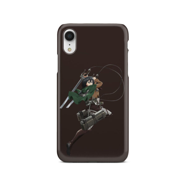 Mikasa Attack on Titan Character for Unique iPhone XR Case Cover