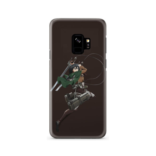 Mikasa Attack on Titan Character for Unique Samsung Galaxy S9 Case Cover