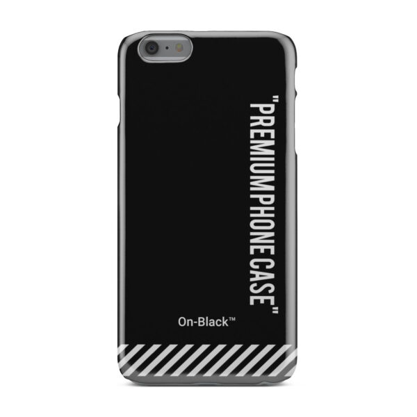 Off White On-Black for Beautiful iPhone 6 Plus Case