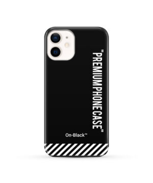Off White On-Black for Best iPhone 12 Case