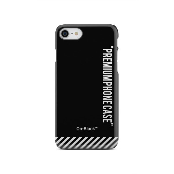 Off White On-Black for Newest iPhone SE 2020 Case Cover