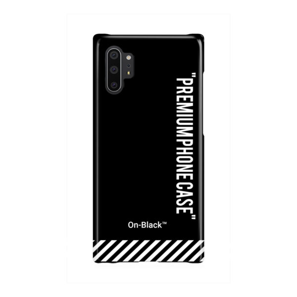 Off White On-Black for Newest Samsung Galaxy Note 10 Plus Case