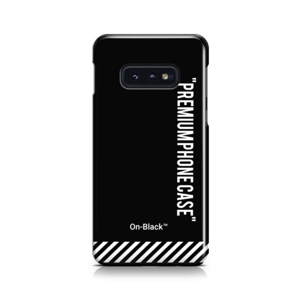 Off White On-Black for Nice Samsung Galaxy S10e Case