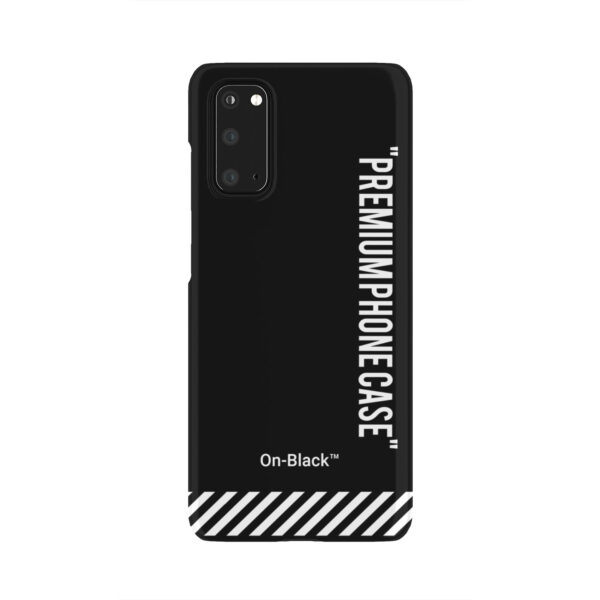 Off White On-Black for Personalised Samsung Galaxy S20 Case Cover