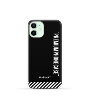 Off White On-Black for Premium iPhone 12 Mini Case