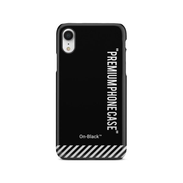 Off White On-Black for Premium iPhone XR Case Cover