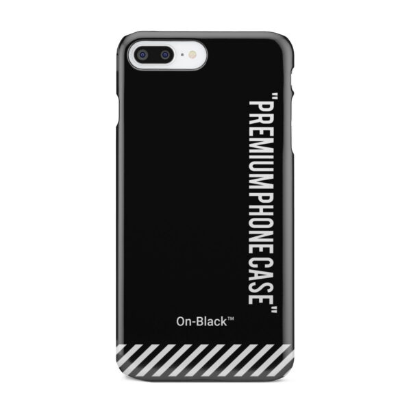 Off White On-Black for Simple iPhone 8 Plus Case