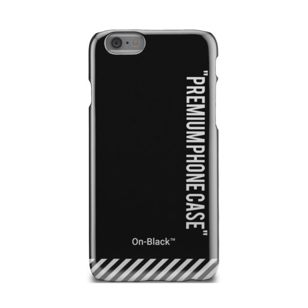 Off White On-Black for Stylish iPhone 6 Case Cover