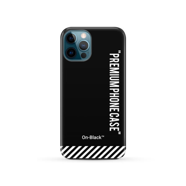 Off White On-Black for Trendy iPhone 12 Pro Case Cover