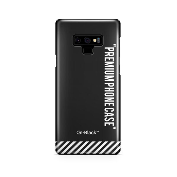 Off White On-Black for Unique Samsung Galaxy Note 9 Case