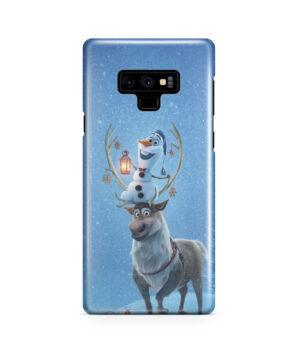 Olaf's Frozen Adventure for Unique Samsung Galaxy Note 9 Case