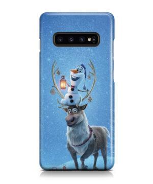 Olaf's Frozen Adventure for Unique Samsung Galaxy S10 Case