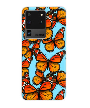 Orange Monarch Butterfly for Custom Samsung Galaxy S20 Ultra Case Cover