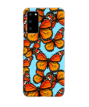Orange Monarch Butterfly for Customized Samsung Galaxy S20 Case Cover
