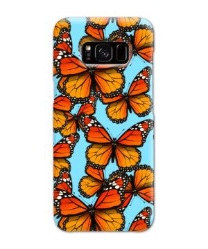 Orange Monarch Butterfly for Customized Samsung Galaxy S8 Case Cover