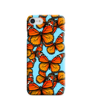 Orange Monarch Butterfly for Newest iPhone SE (2020) Case Cover