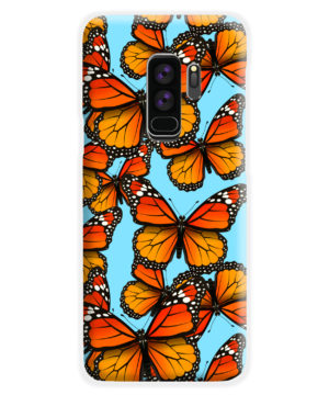 Orange Monarch Butterfly for Nice Samsung Galaxy S9 Plus Case Cover