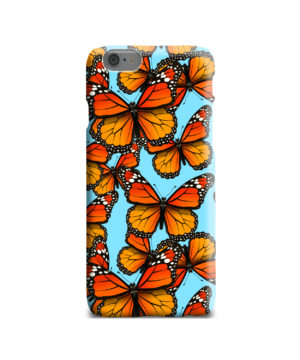 Orange Monarch Butterfly for Personalised iPhone 6 Case Cover
