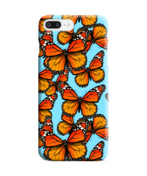 Orange Monarch Butterfly for Personalised iPhone 8 Plus Case Cover