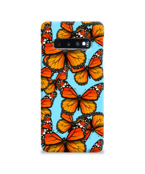 Orange Monarch Butterfly for Premium Samsung Galaxy S10 Case