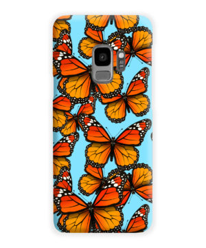 Orange Monarch Butterfly for Premium Samsung Galaxy S9 Case