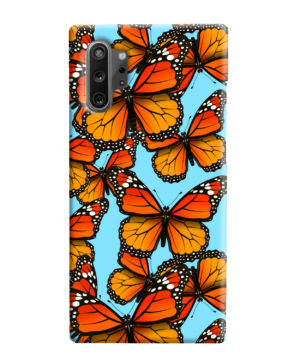 Orange Monarch Butterfly for Stylish Samsung Galaxy Note 10 Plus Case Cover