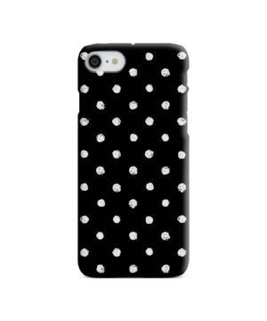 Painted Black And White Dots for Best iPhone SE (2020) Case