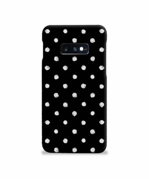 Painted Black And White Dots for Best Samsung Galaxy S10e Case Cover