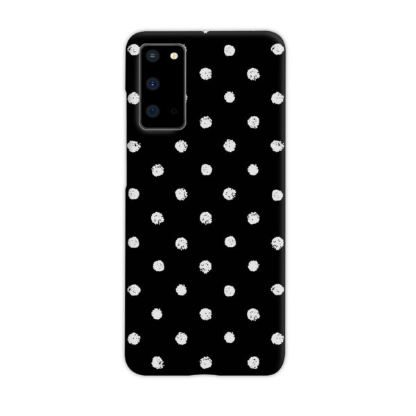 Painted Black And White Dots for Customized Samsung Galaxy S20 Case