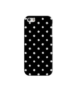 Painted Black And White Dots for Cute iPhone 5 Case Cover