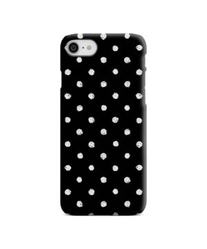 Painted Black And White Dots for Cute iPhone 7 Case