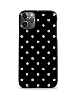Painted Black And White Dots for Trendy iPhone 11 Pro Case Cover