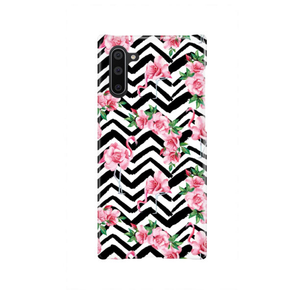 Pink Flamingo and Rose Flowers for Cool Samsung Galaxy Note 10 Case