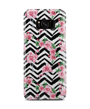 Pink Flamingo and Rose Flowers for Custom Samsung Galaxy S8 Plus Case