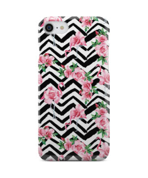 Pink Flamingo and Rose Flowers for Cute iPhone 8 Case