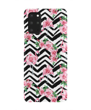 Pink Flamingo and Rose Flowers for Newest Samsung Galaxy S20 Plus Case Cover