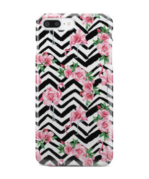 Pink Flamingo and Rose Flowers for Nice iPhone 7 Plus Case Cover