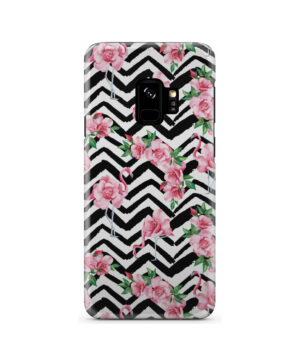 Pink Flamingo and Rose Flowers for Personalised Samsung Galaxy S9 Case Cover