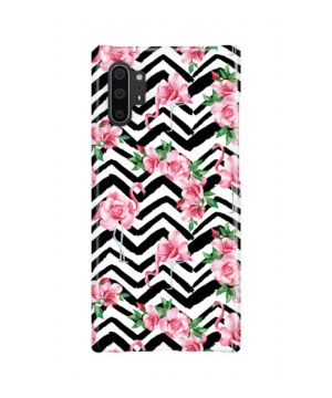 Pink Flamingo and Rose Flowers for Premium Samsung Galaxy Note 10 Plus Case Cover