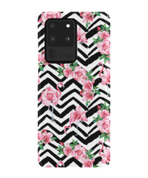 Pink Flamingo and Rose Flowers for Simple Samsung Galaxy S20 Ultra Case Cover