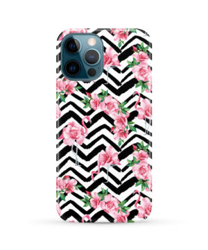 Pink Flamingo and Rose Flowers for Stylish iPhone 12 Pro Max Case Cover