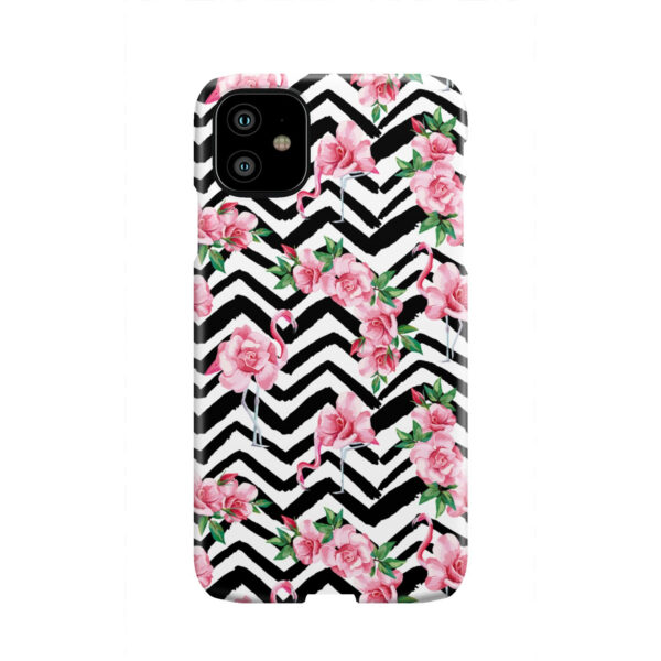 Pink Flamingo and Rose Flowers for Unique iPhone 11 Case Cover
