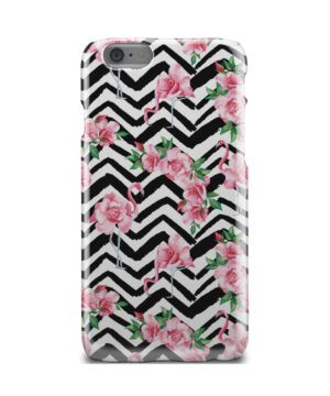 Pink Flamingo and Rose Flowers for Unique iPhone 6 Case Cover