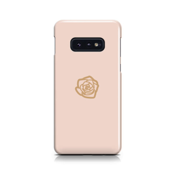 Pink Sand Gold Rose for Cute Samsung Galaxy S10e Case Cover