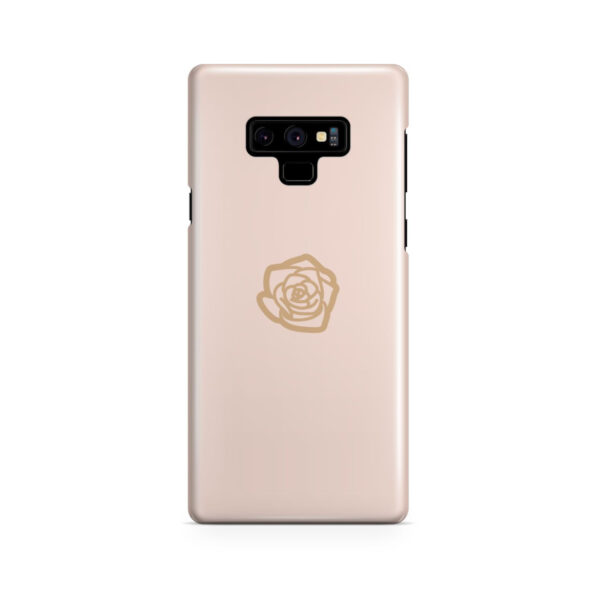 Pink Sand Gold Rose for Nice Samsung Galaxy Note 9 Case