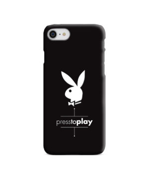 Press to Play Bunny Logo for Personalised iPhone 8 Case Cover