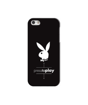 Press to Play Bunny Logo for Unique iPhone 5 Case