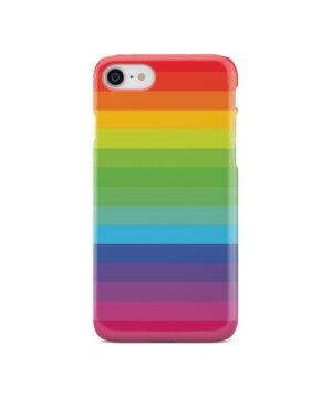 Rainbow Lines for Customized iPhone SE 2020 Case