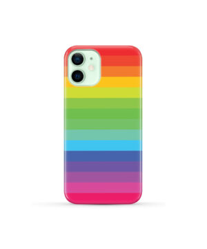Rainbow Lines for Nice iPhone 12 Mini Case
