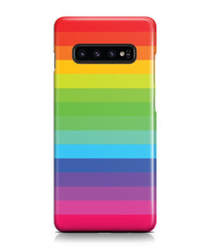 Rainbow Lines for Premium Samsung Galaxy S10 Plus Case